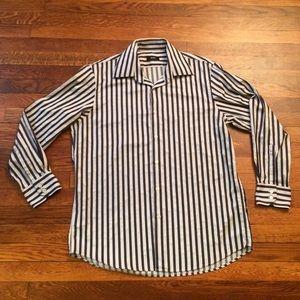 Boss Hugo Boss Striped Dress Shirt Size 17 - 43